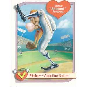 Valentines Day Greeting Card Sheet Spencer Shutout Armstrong