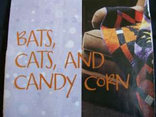 BATS, CATS, AND CANDY CORN  QUILT PATTERN, HALLOWEEN, THROW SIZE