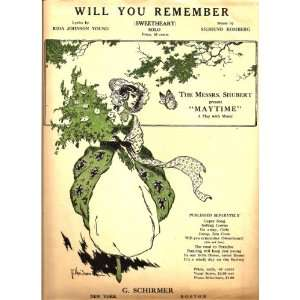 You Remember (Sweetheart) Rida Johnson Young, Sigmund Romberg Books
