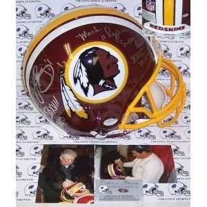 John Riggins & Mark Rypien Hand Signed Washington Redskins Authentic