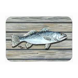 Speckled Trout Fish Jumbo Comfort Kitchen Mat
