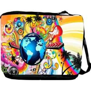 Rikki KnightTM Muscial Paradise Messenger Bag   Book Bag