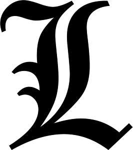 Old English Letter T Initial Decal 9.75 choose color