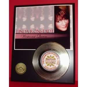 Linda Ronstadt 24kt Gold Record LTD Edition Display ***FREE PRIORITY