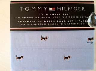 TOMMY HILFIGER RARE THORNTON DOGS SHEET SET NIP Retired