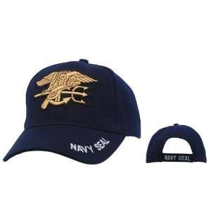 Navy Seal Cap, Navy Blue Military Hat with Raised