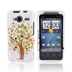 BROWN TREE WHITE Hard Case Cover For HTC EVO Shift 4G