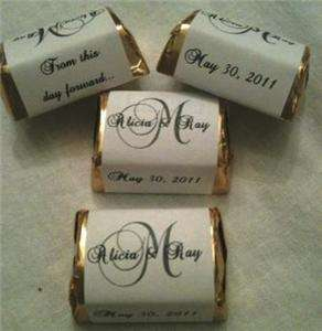 WEDDING CANDY WRAPPERS/STICKERS/LABELS FOR FAVORS personalized DIY