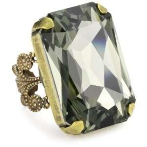 Liz Palacios Circulo Rectangular Smoky Quartz Crystal