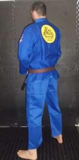 Gracie Signature Jiu Jitsu Gi by FUJI   BLUE * BJJ Uniform kimono FREE
