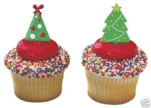 CHRISTMAS TREE Xmas Lights Color 12 Party Cupcake PICS