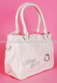 Hello Kitty Sling Messenger Purse Tote Bag Beige 1E3D
