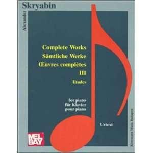 Etudes (Music Scores) (9789638303820): Alexander Skrjabin: Books