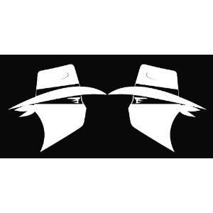 (2) Skoal Bandit Guy Facing Each Other Vinyl Die Cut Decal