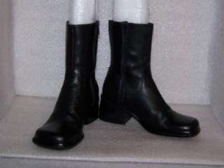 CLOUD 9 by NINE WEST*Black*Soft Leather*Square Toes*Ankle*Boots*Women