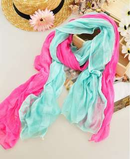 1pcs New Girls Womens Fashion Thin Long Crinkle Design Soft scarf
