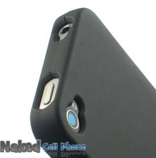 NEW RUBBERIZED BLACK HARD CASE COVER FOR iPHONE 4 PHONE