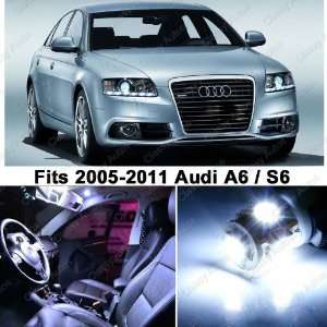 Audi A6 S6 WHITE LED Lights Interior Package Kit C6 (12 Pieces)
