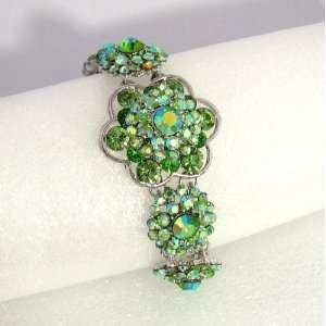 Prom Crystal Rhinestone Rose Flower Bracelet 03