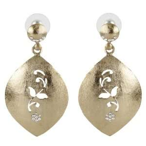 Gold plated Earrings with American Diamonds   SHJ
