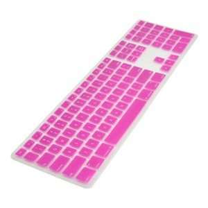 COSMOS ® Pink Ultra Thin silicone soft keyboard cover skin for Apple