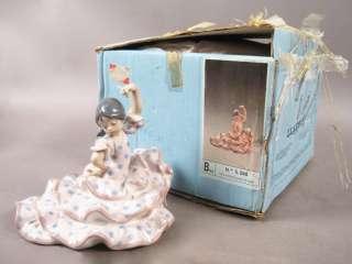 Vintage Lladro #5390 Spanish Dancer Girl Porcelain Figurine w Box Mint