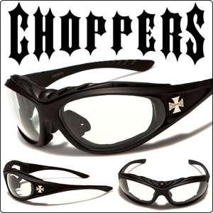 Motorcycle Goggles Matte Black Sunglasses PHOTOCHROMIC Transition Lens