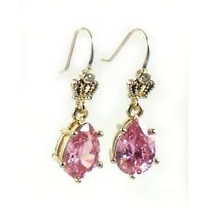 Juicy Couture Jewelry Crystal Pear Drop Earrings Pink Jewelry