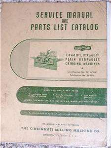 Cincinnati Grinder LL Machine Service/Parts Manual