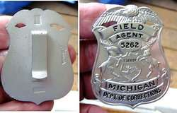 AGENT Badge: Michigan Dept Of Corrections (Security / Police)