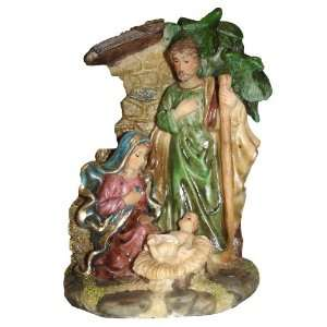 Religious Holy Family Nativity Scene Under Cresh