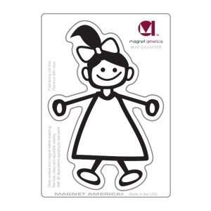 Daughter Stick Figure Family Magnet Automotive