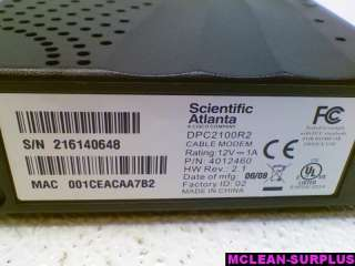 Cisco Scientific Atlanta DPC2100R2 Cable Modem AS IS
