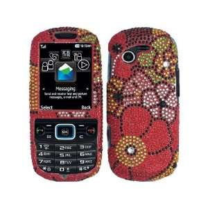com Pink Red Green Flowers Bling Rhinestone Faceplate Diamond Crystal