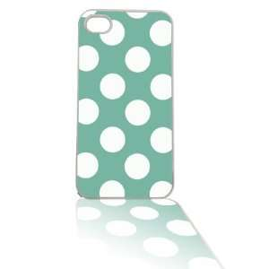 Tiffany Blue Polka Dot iPhone 4/4s Cell Case White