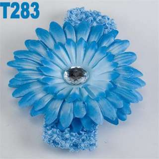 14 PCS Crochet Headbands Hair Bow Girls Baby Lady Flower Hair bow