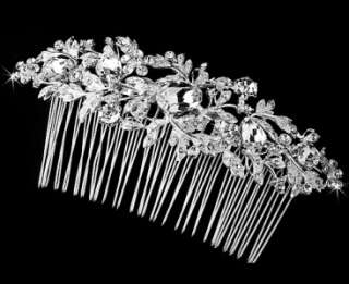 Sparkling Crystal Accented Vintage Bridal Hair Comb