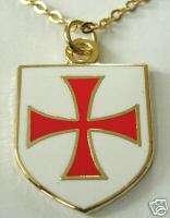 Crusaders Templar Knights Order Shield Cross Necklace