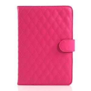 Magenta / PU Leather Flip Case for Galaxy Tab GT P6800 / Galaxy Tab 7