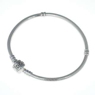 Genuine Pandora Sterling Silver 7.1 inch Bead Clasp Charm Bracelet