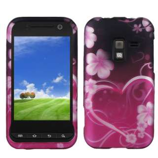 FOR Samsung Conquer 4G SPRINT CELL PHONE BLACK PINK WHITE DESIGN HARD