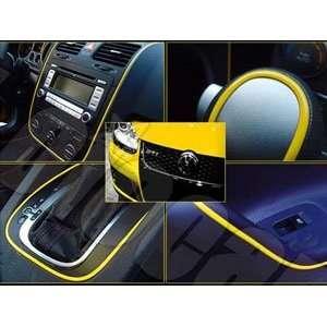 Car Interior or Exterior Molding Trim Decoration Strip (Yellow) For
