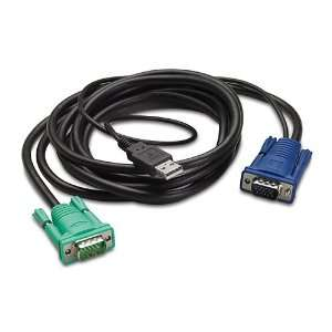 Apc Integrated LCD KVM USB Cable   25FT Electronics