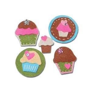Sweet Cupcakes Felt Badges Arts, Crafts & Sewing