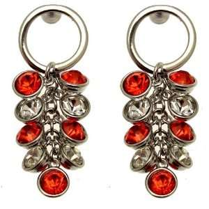 Acosta Jewellery   Red & White Swarovski Crystal   Cluster