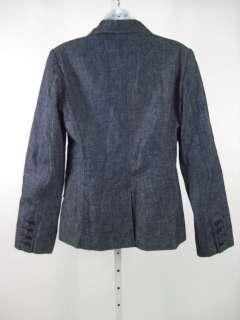 FUTURE OZBEK Dark Wash Denim Button Front Jacket Sz 8