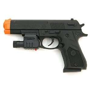 Spring Colt 1911 Pistol FPS 200, Red Dot Laser Airsoft Gun