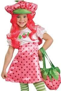 Kids Halloween Costume Strawberry Shortcake Girl Outfit