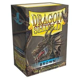 Dragon Shield Brown Standard 100 Card Sleeves Toys