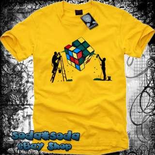 New Mens Fashion RUBIKS Cube T SHIRT Graphic indie M